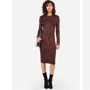 Negin Mirsalehi Fitted Tiger Midi Sweater Dress